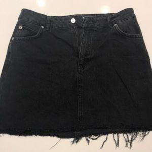 Topshop Moto black jean skirt